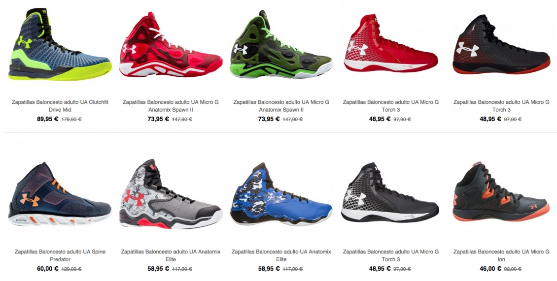 Zapatillas Under Armour Oferta