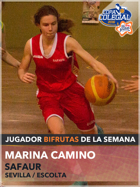 Marina Camino. Jugadora Bifrutas de la semana. Copa Colegial Sevilla.