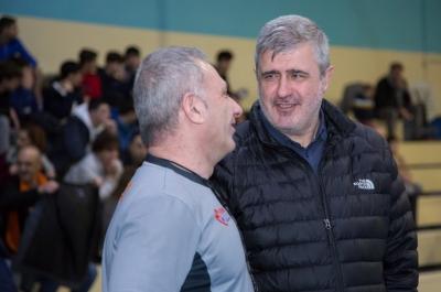 Óscar Quintana, entrenador local