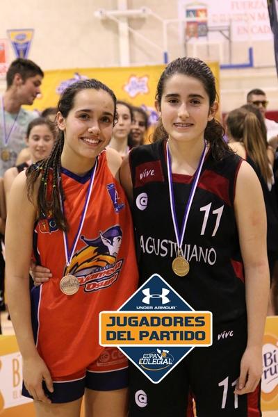 Cristina y Lucía, Mejores Jugadoras del partido