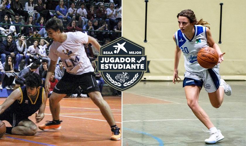 Belén Perdiguer y Alberto García, Mejores Jugadores Estudiantes de 2020