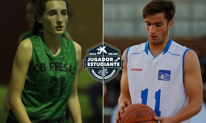 Candela Urbano y Diego Delgado se llevan el premio BSAA al Mejor Jugador-Estudiante