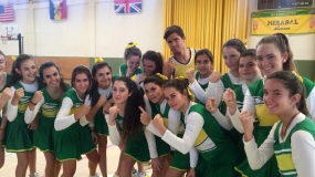 Cheerleading training en Colegio Mirabal