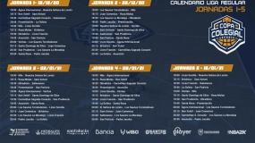 Copa Colegial eSports: calendario completo de la liga regular