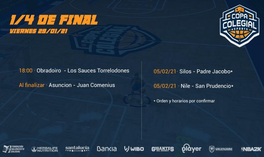 Cuartos de final Copa Colegial eSports