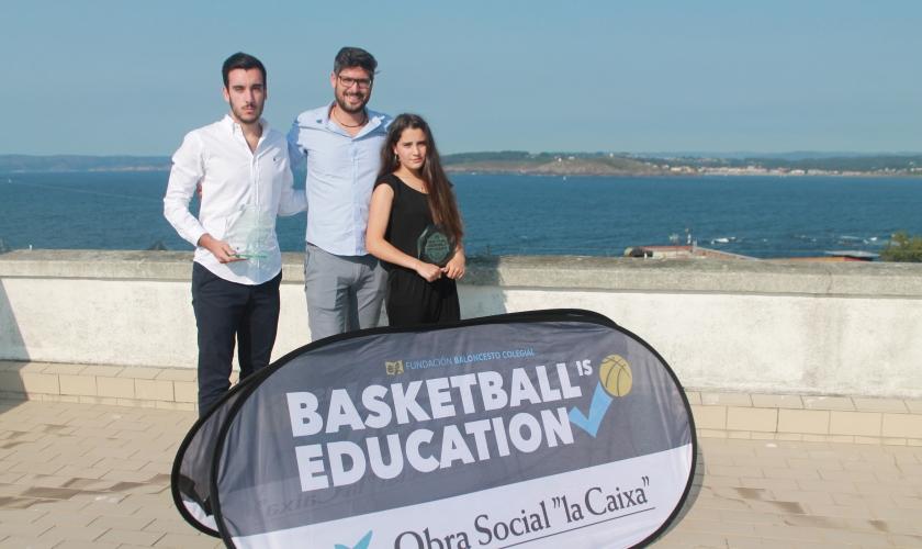 José Antonio Cobián y Sabela Jiménez, Premio BSAA al mejor jugador estudiante
