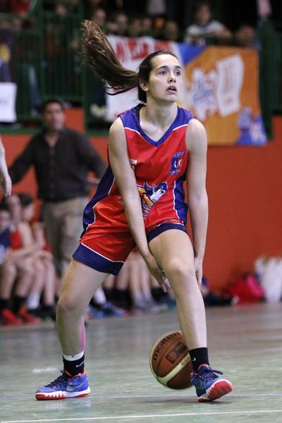 Cristina de la Cruz durante el partido