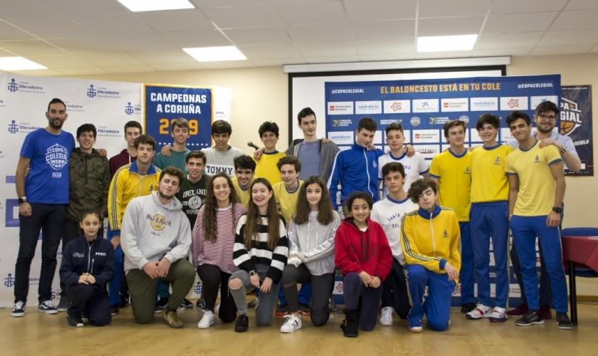 Liceo La Paz anfitrión de la presentación de la Copa Colegial 2020 A Coruña