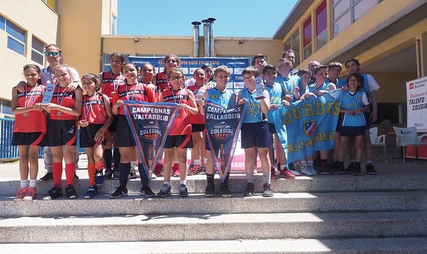 Lourdes y San Agustín recogen el testigo como campeones de la Pequecopa Valladolid