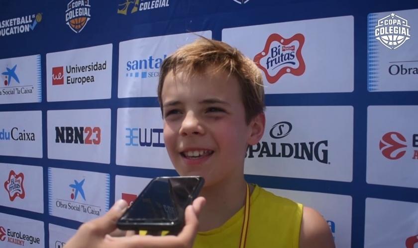 """Lucas Gancedo, MVP del Jamboree: """"Cuando han dicho mi nombre me he puesto nervioso"""""""