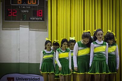 El espectáculo de las cheerleaders de Mirabal