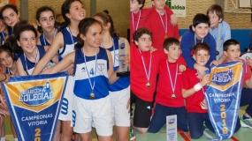 Marianistas y Olabide PequeCampeones de Vitoria