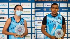 Marina Ruz y Andrés Dembele, Mejores Jugadores de la Copa Colegial Valencia 2021
