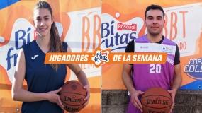 Marina y Víctor, jugadores Pascual Bifrutas de la J7 en Valladolid