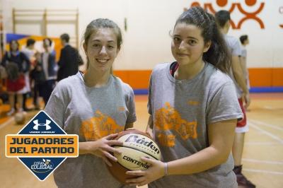 Martínez y Perea, Jugadoras del partido