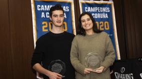 Marta Molejón y Miguel Serra ganadores de los premios BSAA en A Coruña