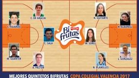 Mejores Quintetos Bifrutas Valencia 2017