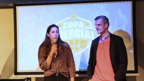Nacho Rodilla y Vega Gimeno en la Presentación de Copa Colegial Valencia