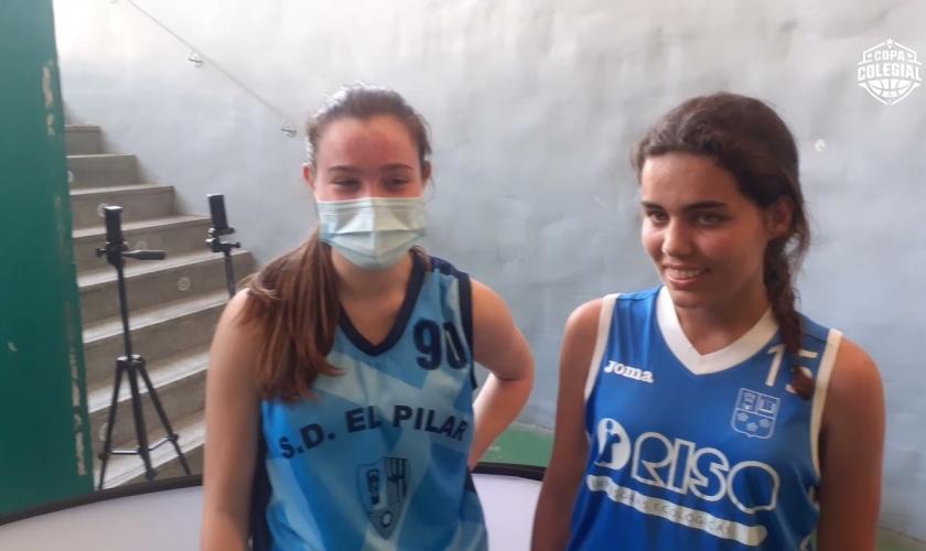 El Pilar - Guadalaviar: las MVPs ante el micrófono de Copa Colegial