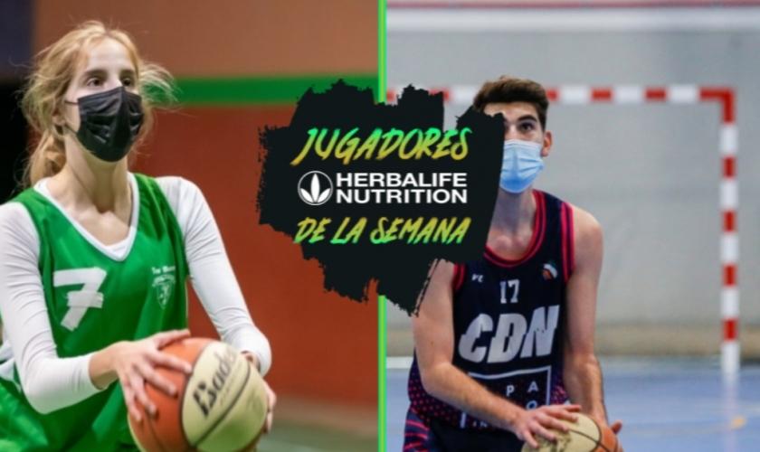 Rubén Zuil y Jimena Lorenzo, primeros jugadores Herbalife de la Semana en Madrid