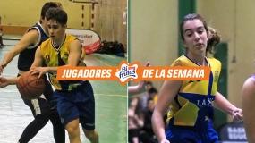 Sara e Iván. doblete de jugadores Pascual bifrutas para La Salle