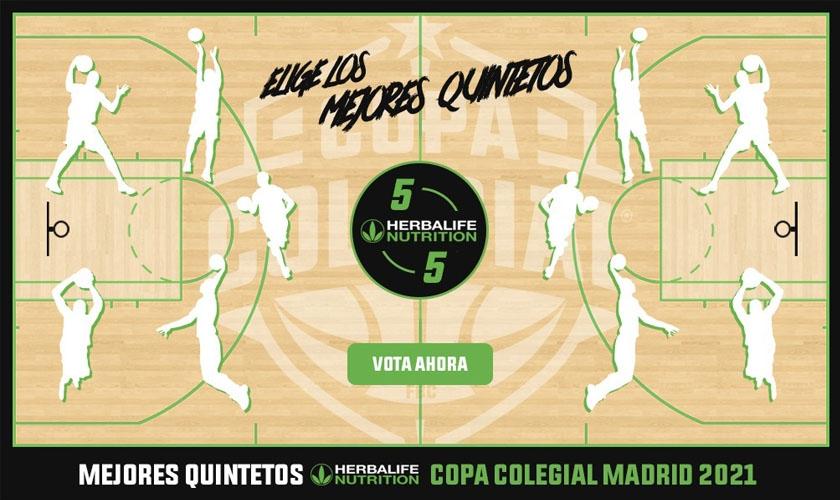 Vota ya los Mejores Quintetos de Copa Colegial Madrid