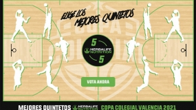 Vota ya los Mejores Quintetos de Copa Colegial Valencia