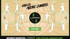 Vota ya los Mejores Quintetos de Copa Colegial Zaragoza