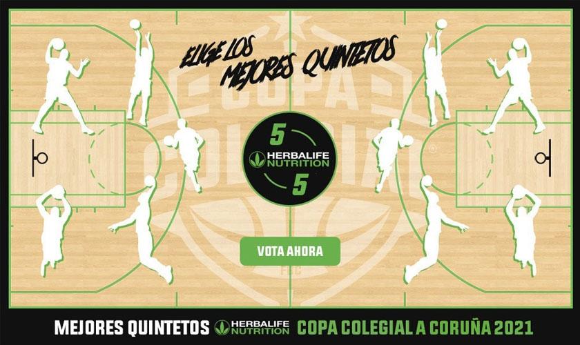 Vota ya los Mejores Quintetos Herbalife Nutrition de Copa Colegial A Coruña